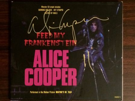 Alice Cooper : Feed My Frankenstein CD - Autographed Signed