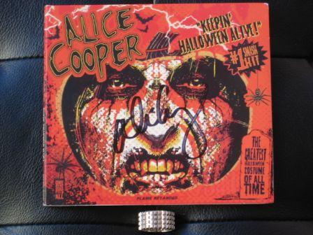 alice cooper keepin halloween alive autographed