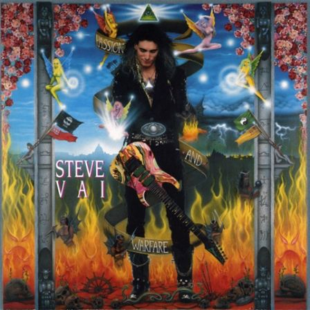 "Steve Vai : Pochette originale de ""Passion and Warfare"" (1990)"