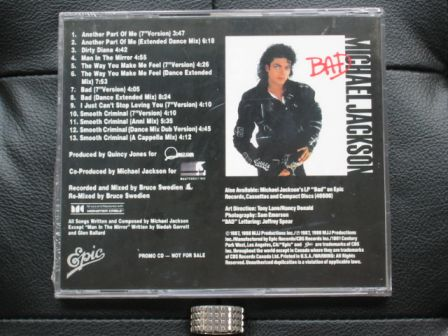 Michael Jackson : The Bad Mixes : Back