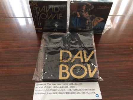 David Bowie FIVE YEARS 1969 - 1973 CD BOX SET Japanese Tote Bag Limited to 100