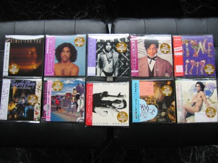 Prince Japanese miniLP 2009 : 10 albums