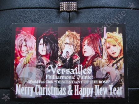 Versailles Philharmonic Quintet Official World Fan Club DESCENDANT OF THE ROSE: My 2011 Greeting Card - Front