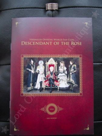 Versailles Philharmonic Quintet Official World Fan Club DESCENDANT OF THE ROSE: Winter 2011 Newsletter VO.01 - Front